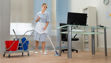 Superior office building cleaning in London